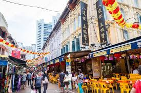 new year shopping new year shopping in singapore chinatown stock editorial
