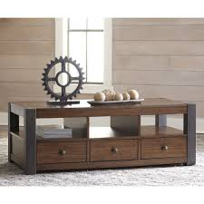 Ashley Sofa Table by Ashley Furniture Heidiho Rectangular Cocktail Table In Light Brown