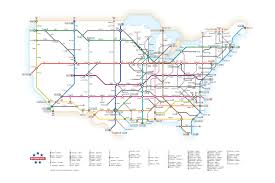 Sydney Subway Map by Interstates As A Subway Map U2013 Transit Maps Store