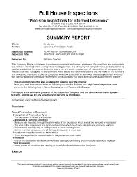 Field Inspection Report Template by House Inspections Sle Report