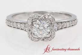 Vintage Style Cushion Cut Engagement Rings Vintage Style Cushion Cut Diamond Engagement Ring In 14k White Gold