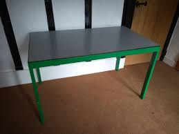 metal desk with laminate top office table laminate top and metal frame legs in bromley london