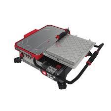 sliding table tile saw porter cable pcc780la 20v max 7 sliding table top wet tile saw