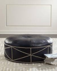 Gray Leather Ottoman Living Room Furniture U0026 Dining Chairs At Neiman Marcus Horchow