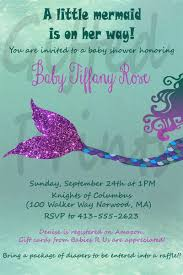 theme invitations baby shower invitation mermaid theme