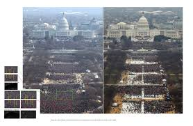 picture of inauguration crowd saw this picture on pol on obama u0027s 09 u0027 inauguration conspiracy