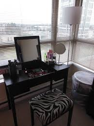 Vanity Table L Black Wooden Makeup Vanity Table Furniture Mixed L Shaped Window