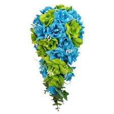 Cascade Bouquet Colorful Artificial Flower Wedding Bouquet Corsage Silk Flower