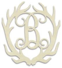 monogram letter b antler monogram letter rustic decorative accents by