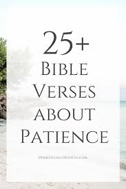 bible verses patience domestically blissful