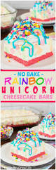 no bake rainbow cheesecake bars inside brucrew life