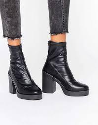 womens boots river island river island chunky sock boot black womens river island other