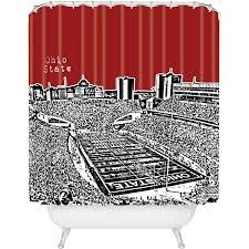 Ohio State Bathroom Accessories by Ncaa Ohio State Buckeyes Fabric Shower Curtain And Curtain Hooks