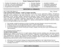 Best 25 Project Manager Resume by Resume Power Statements Free Resume