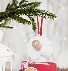 Personalised Baby S First Christmas Tree Bauble by Personalised Baby U0027s First Christmas Photo Bauble By Sarah Hurley