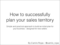 how to plan your sales territoryterritory plan template sales