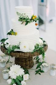 wedding cake greenery cakes desserts photos three tier white cake greenery inside