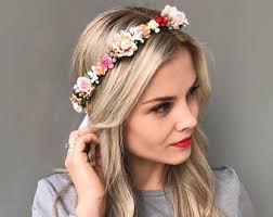 flower headpiece flower hair wreath bridesmaid flower crown bridal floral