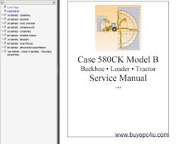 case 580ck model b backhoe u0026 loader u0026 tractor pdf