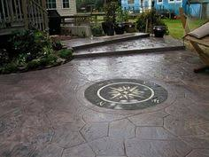 Textured Concrete Patio by Tiered Stamped Concrete Patio Concreations Pinterest
