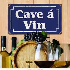 Metal Signs Home Decor by Wine Cellar French Cave A Vin Metal Sign Home Bar Decor