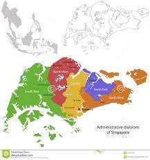 Map Of Singapore Singapore Map Royalty Free Stock Photography Image 31727267