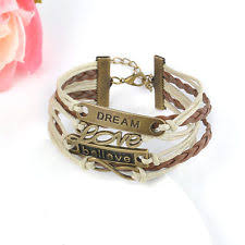 Popular Items For Love Anchors - hot bronze infinity love anchor leather cute charm bracelet diy