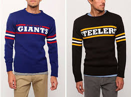 nfl sweaters retro nfl sweaters by junk food gear patrol