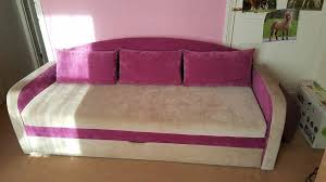 sofa bed pink beautiful sofa bed in pink and beige with storage in dartford