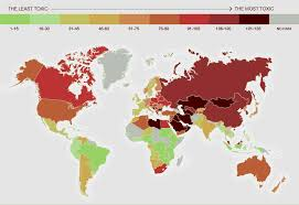 India On World Map Maps Reveal Top U0027toxic U0027 Countries In The World