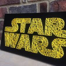 star wars inspired string art board wooden sign home and living