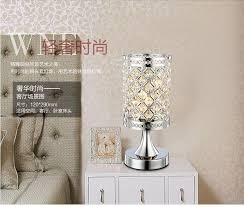 Small Table Lamp With Crystals Modern Small Crystal Table Lamps Brief Bedroom Bedside Desk Lamp