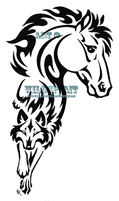 black ink celtic wolf and tattoos designs