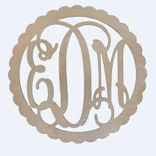 3 letter monogram 3 letter wooden monogram with border the pink azalea