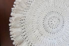 the fuzzy lounge free knitting pattern tree skirt or doily for