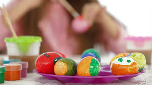 Decorating Easter Eggs With Silk by Woman Hands Put White Egg Into Silk Material Easter Eggs Painting