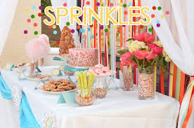 girl birthday party themes sprinkles party pizzazzerie