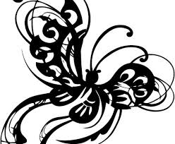 ornamental butterfly abstract stylized wings free vector in