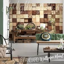 wood blocks wall mural wood squares wallpaper mural