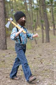 halloween costume ideas lumberjack with beard and axe make it