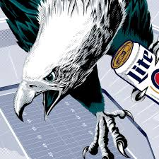 miller lite nfl caign design illustrationryan