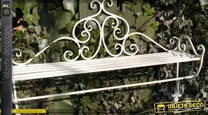 étagère en fer forgé pour cuisine etagère murale en fer forgé blanc antique