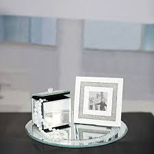 jewelry box photo frame mirrored vanity set jewelry box picture frame and tray glass
