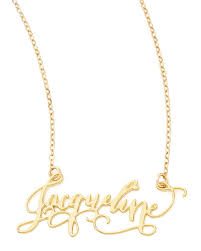 personalized gold jewelry brevity personalized gold plate calligraphy necklace