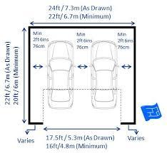 2 car garage door dimensions double garage dimensions with one door standard car size