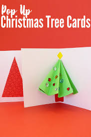 pop up christmas tree card that kids can make childhood101