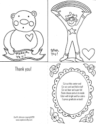 coloring page thank you card archives mente beta most complete