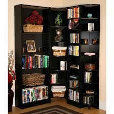 Black Corner Bookcase Black Corner Bookcase Doherty House Effectively Corner