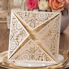 Latest Designs Of Marriage Invitation Cards Aliexpress Com Buy Printable Four Folds Laser Cut Wedding