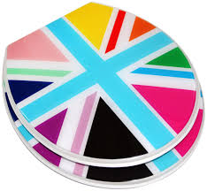 themed toilet seats colorful union toilet seat std potty concepts